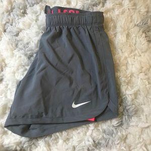 Women Grey Nike Running Shorts NWT